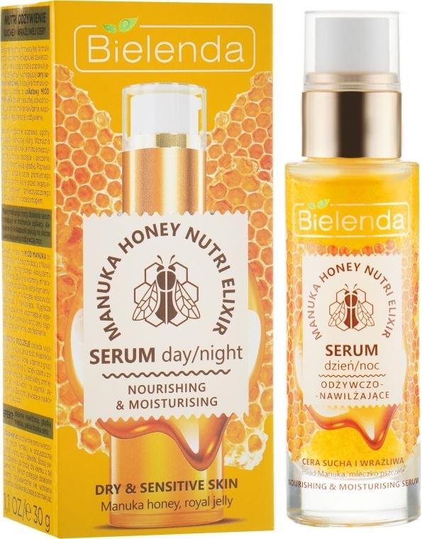 Ser hidratant pentru față - Bielenda Manuka Honey Nutri Elixir Serum