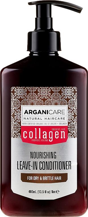 Balsam fără clătire pentru păr uscat și despicat - Arganicare Collagen Nourishing Leave-In Conditioner