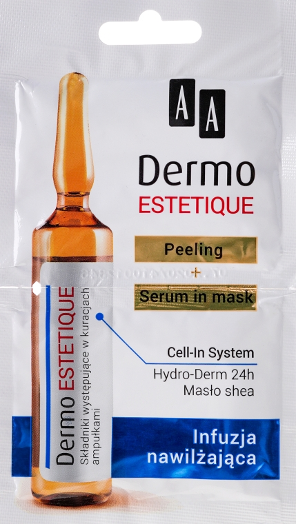 "Set de fiole "" Hidratante"" - AA Cosmetics Dermo Estetique (peeling/5ml + ser/5ml) — Imagine N1"