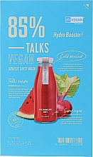 Parfumuri și produse cosmetice Mască de țesut pentru față - Missha Talks Vegan Squeeze Sheet Mask Hydro Booster