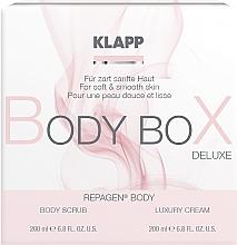 Parfumuri și produse cosmetice Set - Klapp Repagen Body Box Deluxe (b/cr/200ml+b/scr/200ml)