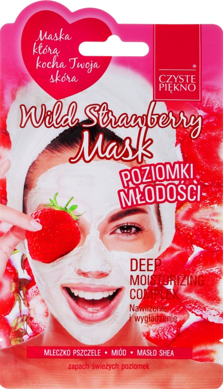 "Mască de față ""Căpșuni sălbatice"" - Czyste Piekno Wild Strawberry Face Mask — Imagine N1"