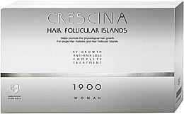Parfumuri și produse cosmetice Complex tratament împotriva căderii părului, pentru femei, 1900 - Labo Crescina Hair Follicular Island Re-Growth Anti-Hair Loss Complete Treatment 1900 Woman