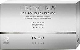 Parfumuri și produse cosmetice Complex tratament împotriva căderii părului, pentru femei, 1900 - Labo Crescina Hair Follicular Island Re-Growth Anti-Hair Loss Complete Treatment 1900 Woman