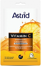 Parfumuri și produse cosmetice Mască de iluminare cu vitamina C - Astrid Vitamin C Energizing And Brightening Textile Mask