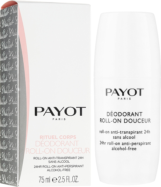 Deodorant roll-on - Payot Le Corps Deodorant Ultra Douceur Alcohol Free Roll On Deodorant