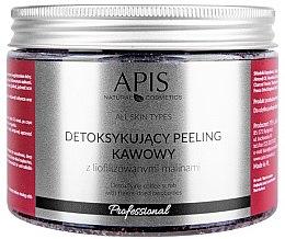 """Parfumuri și produse cosmetice Scrub-detox de cafea """"Zmeură"""" pentru corp - Apis Professional Detoxifying Coffee Scrub Raspberry"""