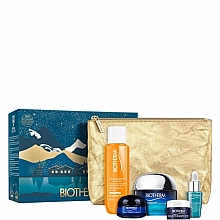 Parfumuri și produse cosmetice Set - Biotherm Blue Therapy (cr/50ml + n/cr/15ml + eye/cr/5ml + elixir/7ml + oil/30ml + bag)