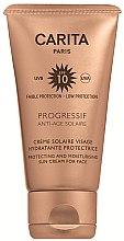 Parfumuri și produse cosmetice Cremă cu protecție solară SPF 10 - Carita Progressif Anti-Age Solaire Protecting And Moisturising Sun Cream For Face