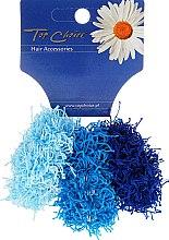 Parfumuri și produse cosmetice Elastice de păr 3 buc, albastre, 21695 - Top Choice