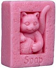 "Parfumuri și produse cosmetice Săpun natural ""Pisică"", roz - LaQ Happy Soaps"