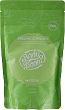 Parfumuri și produse cosmetice Scrub de zahăr anticelulitic cu Matcha - BodyBoom Body Scrub