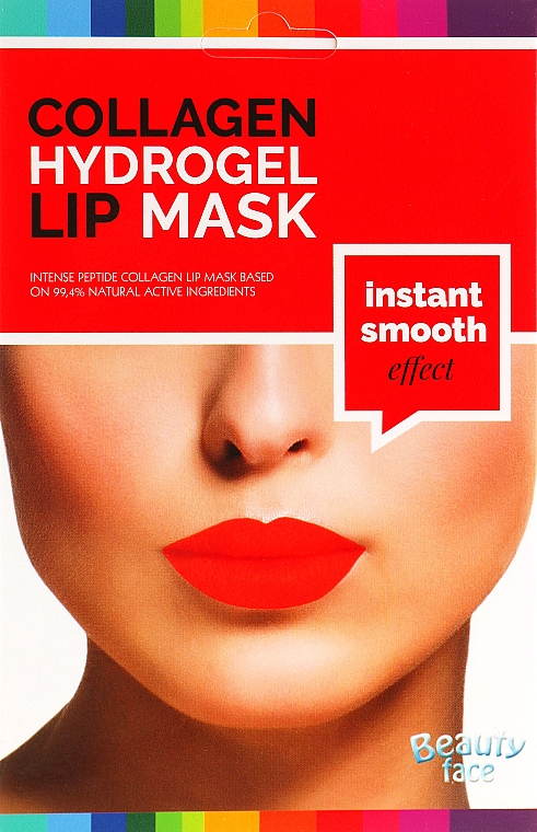 Коллагеновая гидрогелевая маска для губ - Beauty Face Wrinkle Smooth Effect Collagen Hydrogel Lip Mask — фото N1