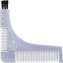 Parfumuri și produse cosmetice Șablon pentru barbă cu pieptene pentru barbă integrat, gri - Man'S Beard