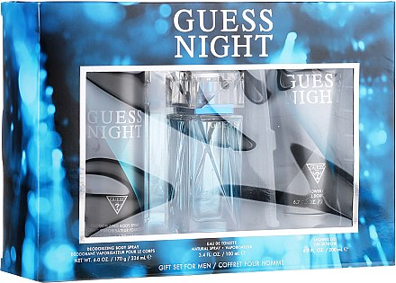 Guess Night - Zestaw (edt/100ml + sh/gel/200ml + deo/226ml)