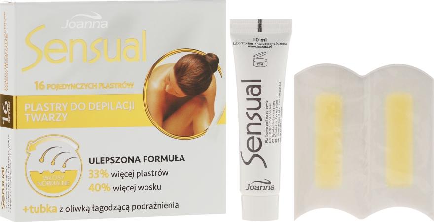 Benzi de ceară pentru depilarea feței, pentru părul normal - Joanna Sensual Dipilatory Face Strips