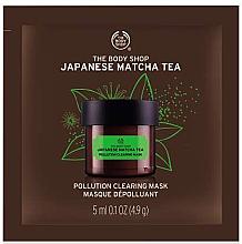 """Parfumuri și produse cosmetice Mască antioxidantă de față """"Ceai matcha japonez"""" - The Body Shop Matcha Facial Mask (mostră)"""