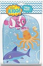 Parfumuri și produse cosmetice Burete-mănușă de baie - Kids Wash Mitt Aquatic Print
