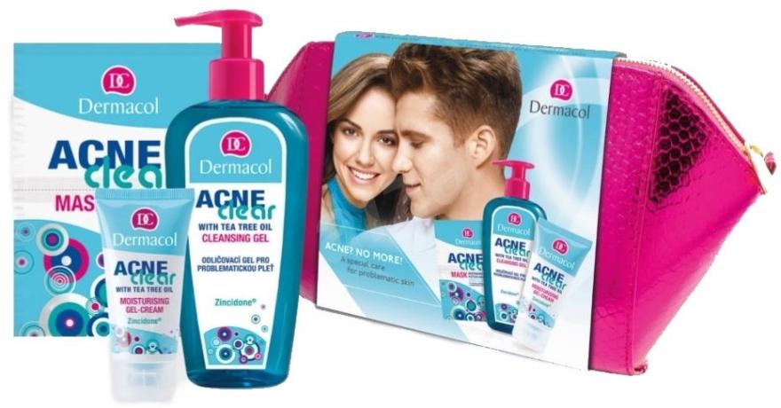 Set - Dermacol Acneclear (clean/gel/200ml + gel/cr/50ml + f/mask/2x8ml) — Imagine N1