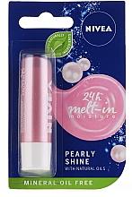 """Parfumuri și produse cosmetice Balsam de buze"""" Strălucire perlată"""" - Nivea Lip Care Pearl & Shine Limited Edition"""