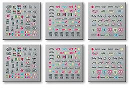Parfumuri și produse cosmetice Postituri pentru unghii, 6 buc. 42300 - Top Choice Words Neon
