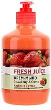 """Parfumuri și produse cosmetice Cremă-săpun cu lăptișor hidratant din orez """"Căpșună și Guava"""" - Fresh Juice Strawberry&Guava"""
