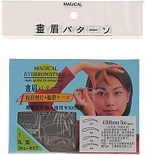 Parfumuri și produse cosmetice Șabloane pentru sprâncene, mărime A1, A2, A3, A4 - Magical Eyebrow Style