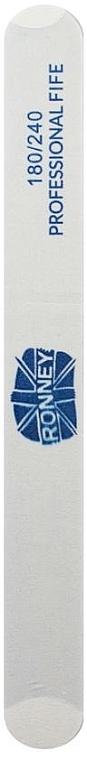 Pilă de unghii, 180/240, albă, dreaptă - Ronney Professional