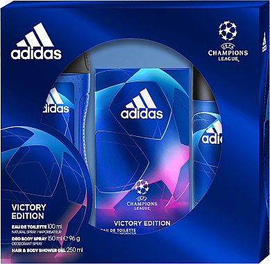 Adidas UEFA Champions League Victory Edition - Set (edt/100ml+sh/gel/250ml +deo/150ml)