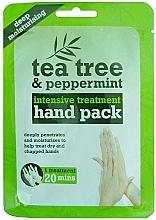 Parfumuri și produse cosmetice Mască-mănuși pentru mâini - Xpel Marketing Ltd Tea Tree & Peppermint Deep Moisturising Hand Pack