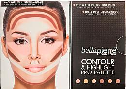 Parfumuri și produse cosmetice Paletă pentru machiaj - Bellapierre Cosmetics Contour & Highlight Pro Palette