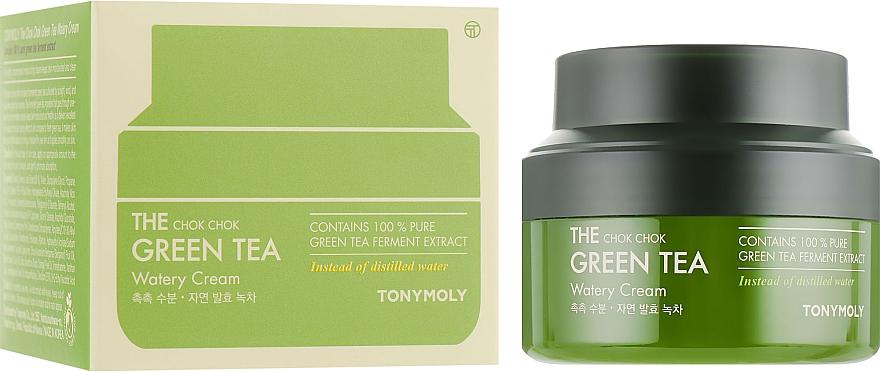Крем на основе экстракта зелёного чая - Tony Moly The Chok Chok Green Tea Watery Cream — фото N2