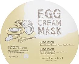 Parfumuri și produse cosmetice Mască hiratantă din țesătură cu extract de ou pentru față - Too Cool For School Egg Cream Mask Hydration