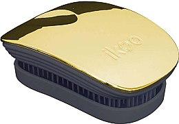 Parfumuri și produse cosmetice Pieptene pentru păr - Ikoo Pocket Soleil Metallic Black