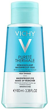 Demachiant bifazic pentru față - Vichy Purete Thermale Waterproof Eye Make-Up Remover — Imagine N1