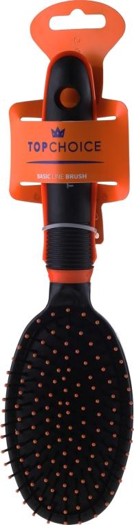 Perie de păr 2465, neagru + portocaliu - Top Choice