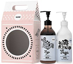 Parfumuri și produse cosmetice Set - Yope Fig (soap/500ml + b/lot/300ml)
