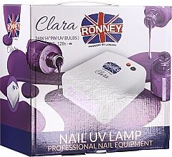 Parfumuri și produse cosmetice Lampă pentru unghii, roșie - Ronney Professional Nail UV Lamp Clara 36W (GY-UV-818)