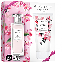 Духи, Парфюмерия, косметика Allverne Cherry Blossom & Musk - Набор (edp/50ml + b/lot/200ml)