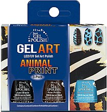 Parfumuri și produse cosmetice Set - IBD Just Gel Polish Animal Print Gel Art(nail/lacquer/7,4mlx3)