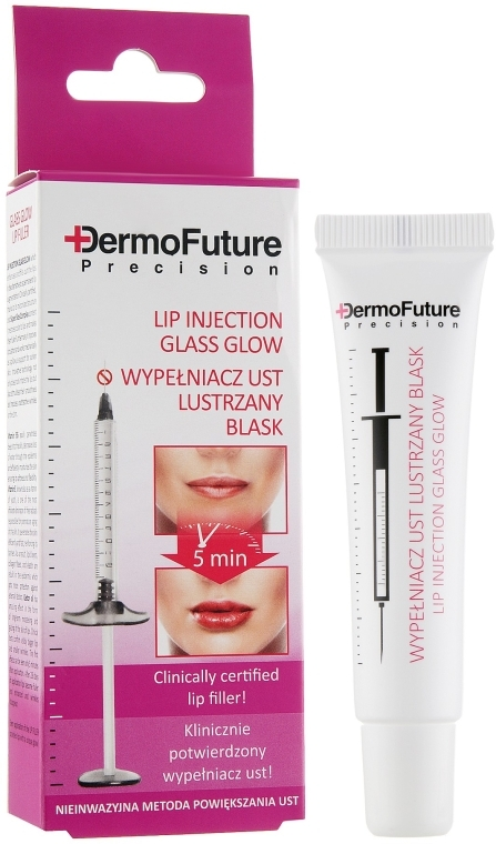 Maximizator de Buze strălucire - DermoFuture Lip Injection Glass Glow