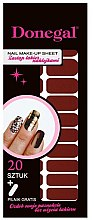 Parfumuri și produse cosmetice Abțibilduri pentru unghii 3640 - Donegal Nail Make-Up Sheet