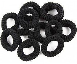 Parfumuri și produse cosmetice Elastice de păr, 12 buc., negre - Donegal Ponytail Holder