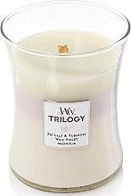 Parfumuri și produse cosmetice Lumânare aromatică - WoodWick Hourglass Trilogy Candle Terrace Blossoms