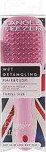 Parfumuri și produse cosmetice Pieptene  - Tangle Teezer The Wet Detangler Mini Baby Pink Sparkle