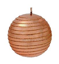 Parfumuri și produse cosmetice Lumânare decorativă, bilă, cupru, 8 cm - Artman Glamour