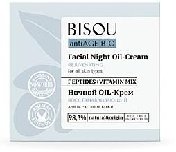 """Parfumuri și produse cosmetice Cremă de noapte """"Revitalizantă"""" - Bisou AntiAge Bio Facial Night Oil-Cream"""