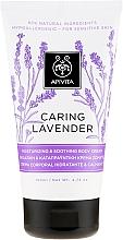 """Parfumuri și produse cosmetice Cremă hidratantă și calmantă pentru pielea sensibilă a corpului """"Lavandă"""" - Apivita Caring Lavender Hydrating Soothing Body Lotion"""