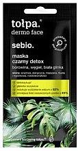 Parfumuri și produse cosmetice Mască de față - Tolpa Dermo Face Sebio Black Detox Mask (mini)
