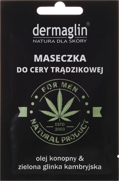 Mască de față - Dermaglin For Men Natural Product — Imagine N1